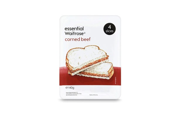 Essential Waitrose Corned Beef Slices