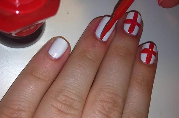 England flag nails