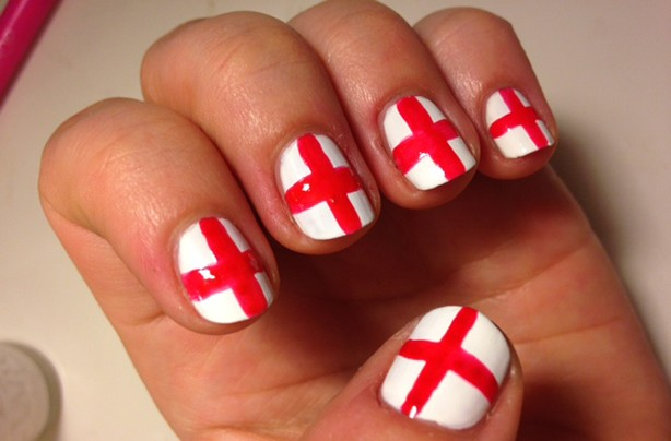 England flag nails