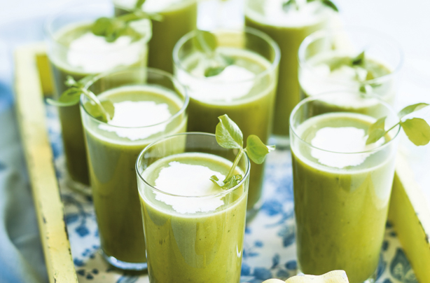 pea mint soup with lemon cream recipes dishmaps fresh peas with mint ...