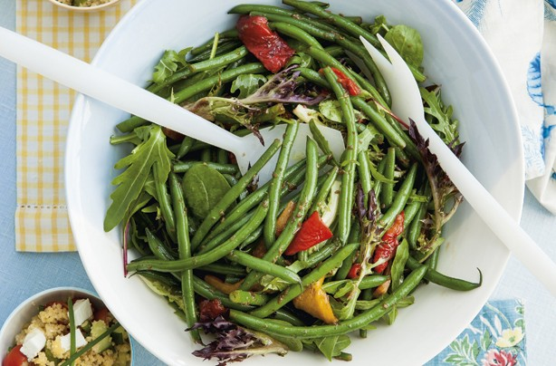 Bean and pepper salad