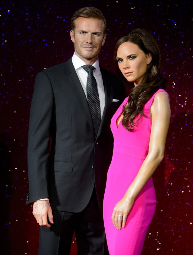 David and Victoria Beckham waxworks
