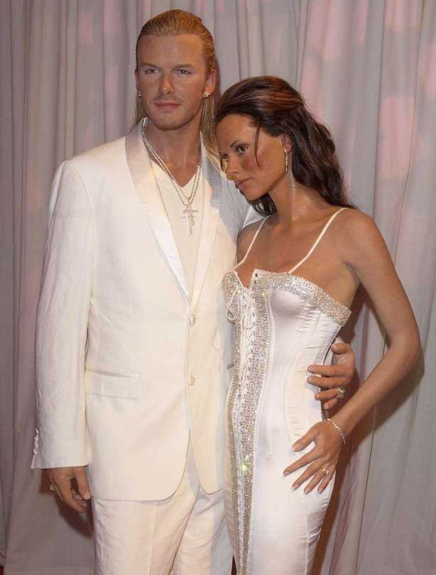 David and Victoria Beckham old waxworks