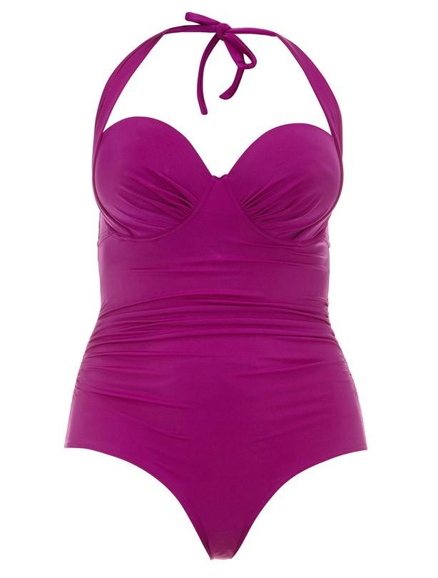 Evans pink halterneck swimsuit
