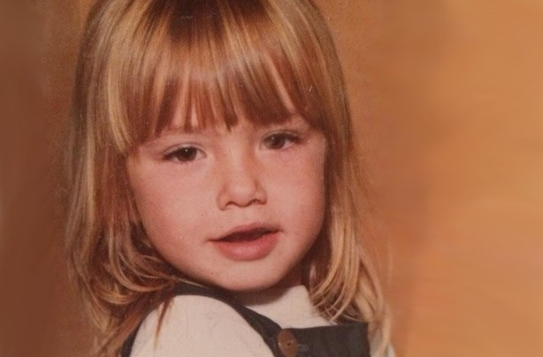 Tamzin Outhwaite as a child