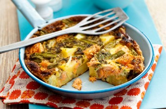Slimming World's salmon, asparagus and potato frittata recipe ...