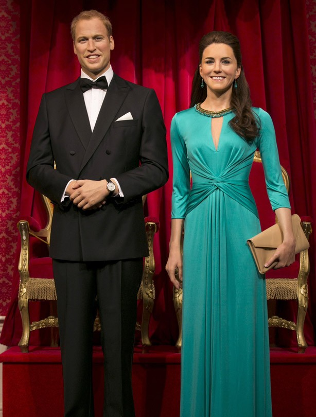 Kate and Wills waxworks