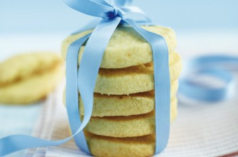 Gluten-free lemon shortbread rounds