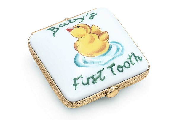 Tiffany baby's first tooth box
