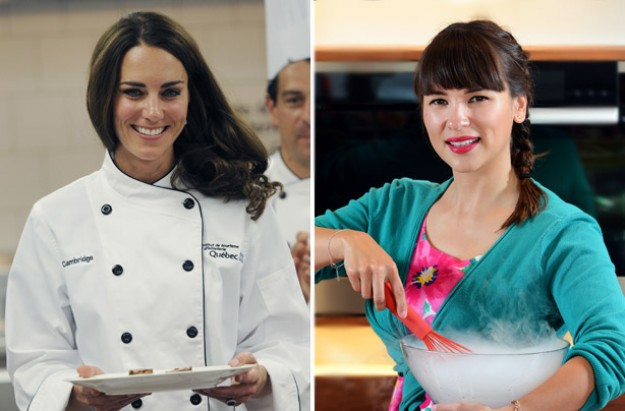 Kate Middleton and Rachel Khoo cookery course