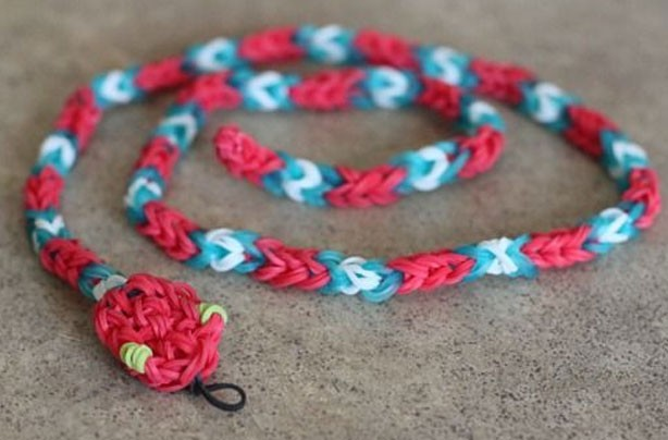 Loom band ideas: snake