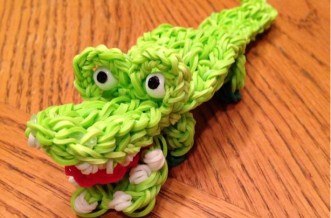 Loom band crocodile