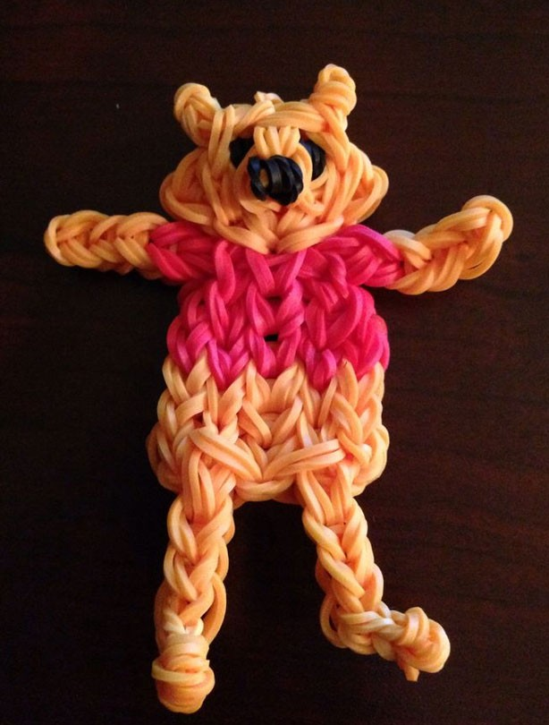 Loom band ideas: Winnie the Pooh loom band