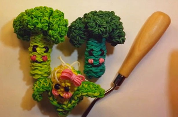 Loom band ideas: broccoli