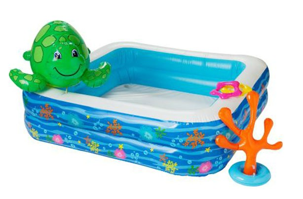 Best (and cheapest) paddling pools: Chad Valley Children's Pool Set with Spray Turtle argos