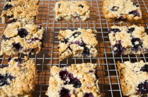 Blueberry and fig flapjacks