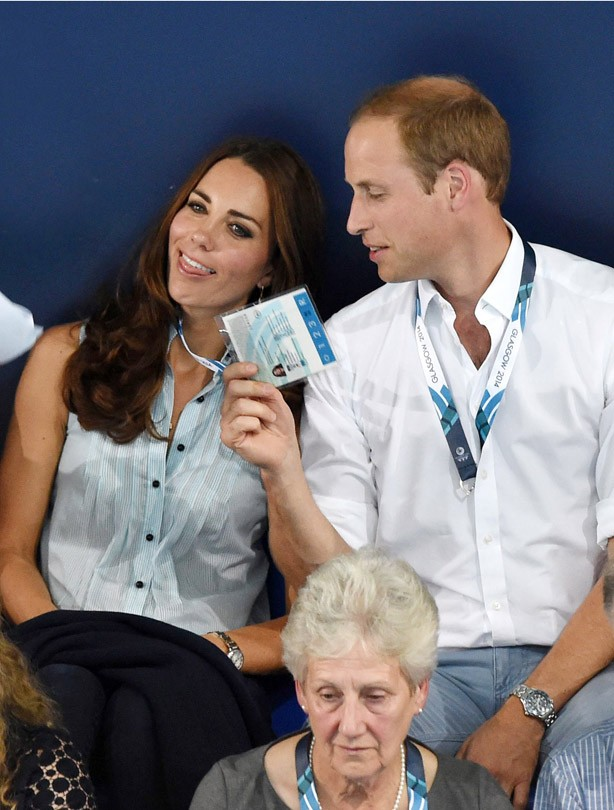 Kate Middleton and Prince William at the Commonwealth Games 2014