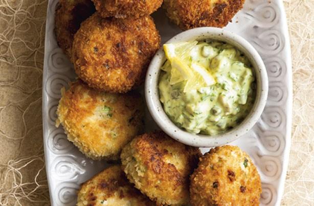 Lemon and parsley fishcakes