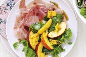 Nectarine and prosciutto platter