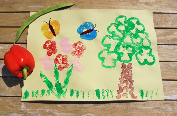 Vegetable printing how to make a vegetable printing picture