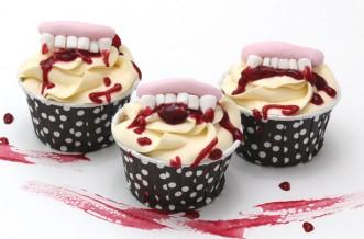 Halloween fang cake decorations