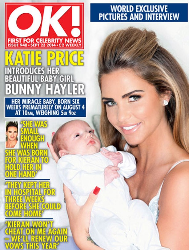 Katie Price with baby Bunny