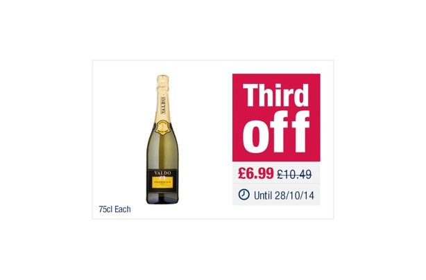 The Co-operative Valdo Prosecco Treviso Doc Extra Dry