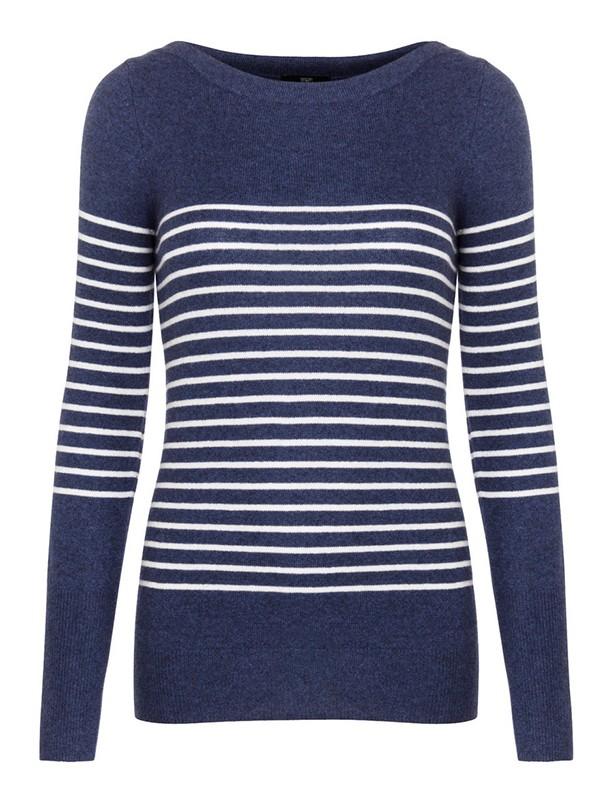 Cheap cashmere: Tesco Breton-striped jumper
