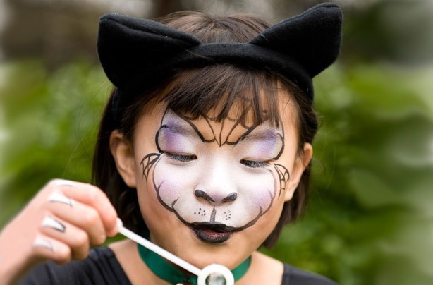 Halloween witch face paint
