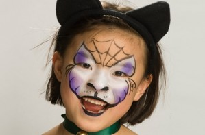 Halloween cat face paint