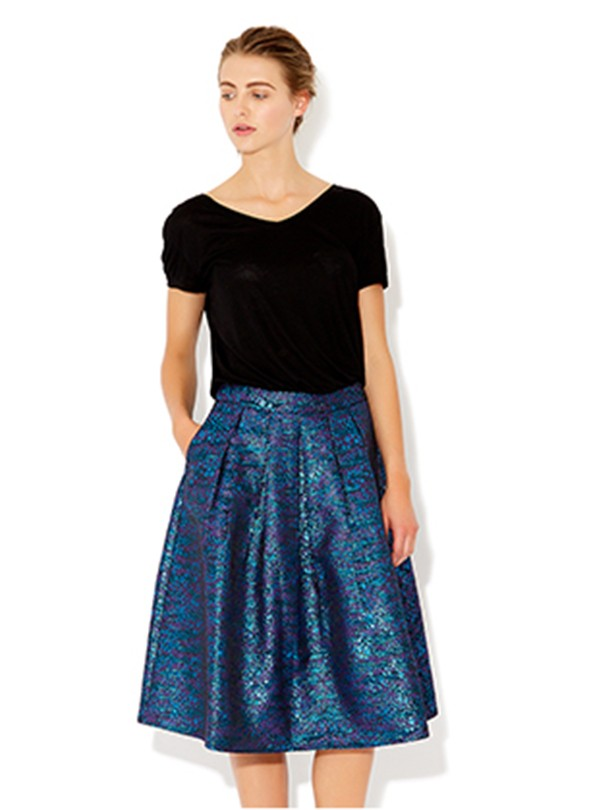 Best for curvy women: Monsoon full jacquard skirt