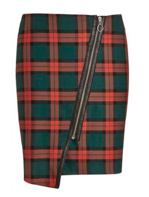 Best for hourglass shape: Next check mini skirt