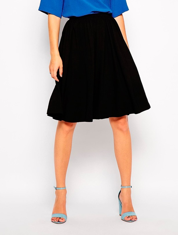 Best for Big thighs: Asos midi skater skirt
