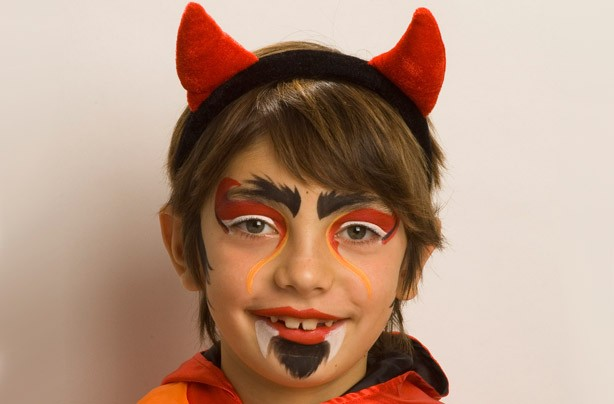 Devil Face Paint Chikdren