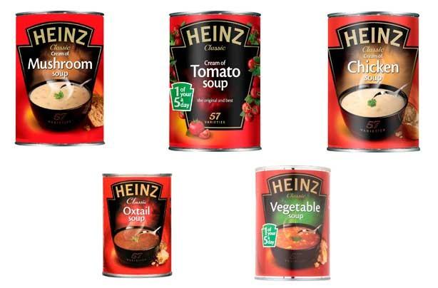 Iceland Heinz soups