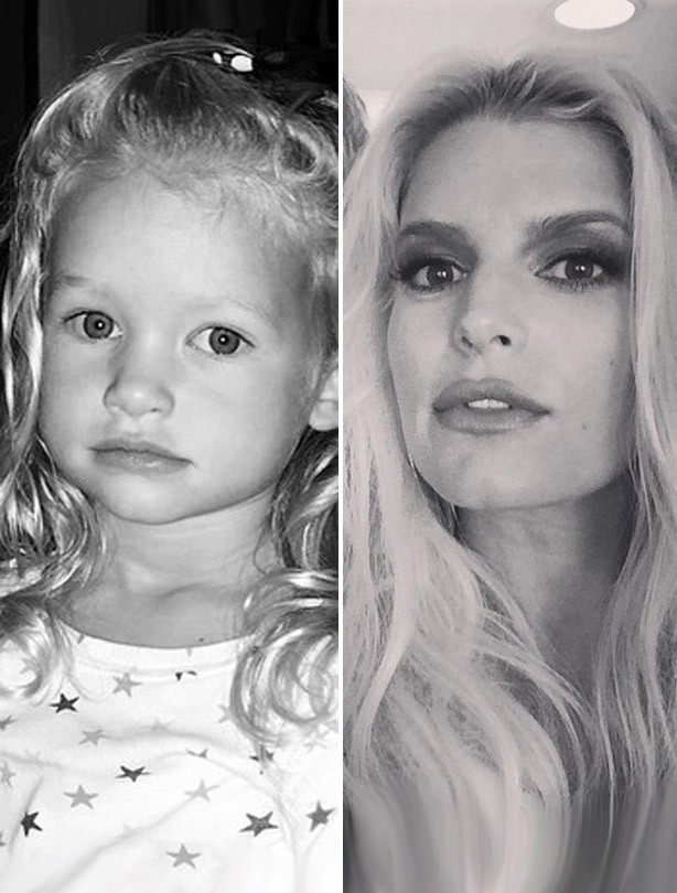 Jessica Simpson and her daughter Maxwell