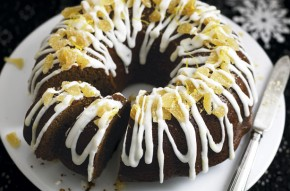 Treacle bundt cake with limoncello drizzle