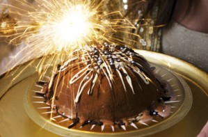 Chocolate ice cream bombe