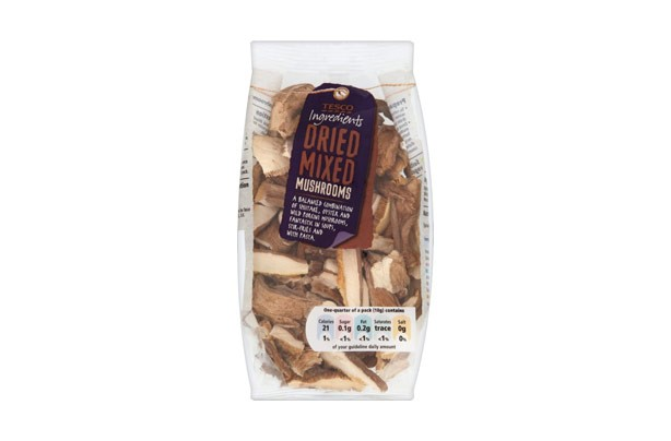 Tesco Ingredients Mixed Dried Mushrooms