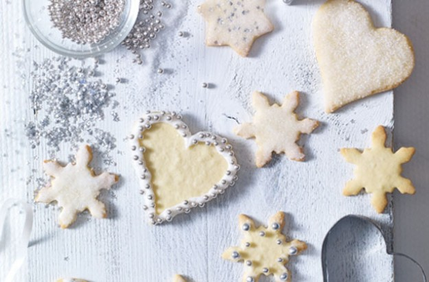 Glitzy Christmas cookies