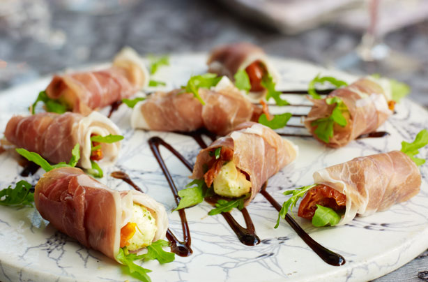 Parma ham and mozzarella bites recipe goodtoknow for Gluten free canape ideas