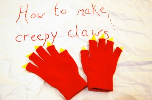 How to make creepy claw gloves