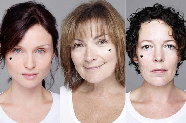 Stars reveal all to go barefaced for Children In Need