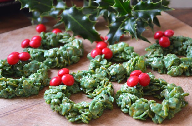 Christmas Cornflake wreaths
