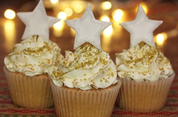 White star cupcakes