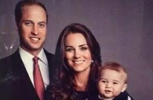 Prince William, Kate Middleton and Prince George thank you card