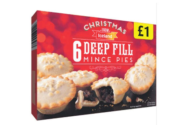 Iceland Deep Fill Mince Pies