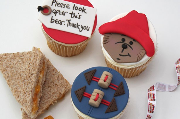 Paddington Bear-inspired cupcakes