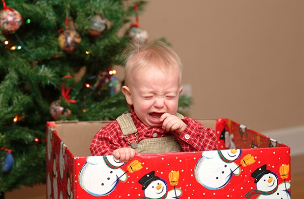 baby crying unhappy Christmas fights you'll have