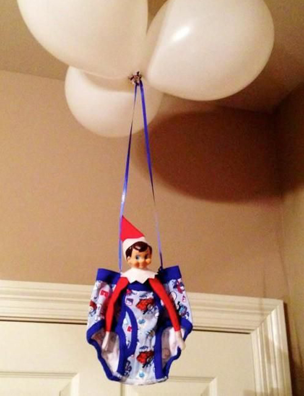30 easy elf on the shelf ideas goodtoknow for Elf on the shelf balloon ride